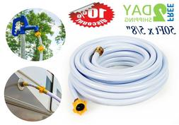 "Drinking Water Hose 50ft x 5/8"" Heavy Duty Lightweight Drink"