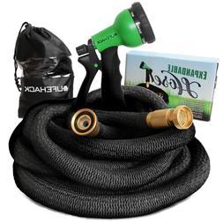 Expandable Flexible Garden Water Hose Deluxe w/ Spray Nozzle