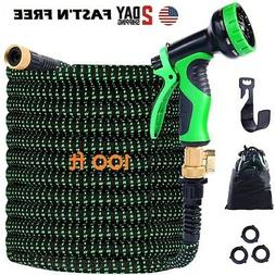 Expandable Garden Hose 100ft Upgraded,Flexible Lightweight W