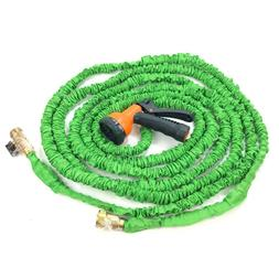 expandable garden hose 17ft 50ft with nozzle
