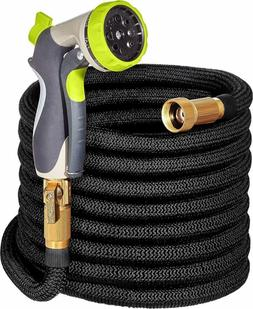 """Expandable Garden Hose 50ft with Double Latex Core 3/4"""" Soli"""