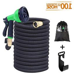 100ft Expandable Garden Hose Durable Double-Layer, 2018 NEW