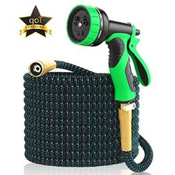 Expandable Garden Hose 50Ft Extra Strong – Brass Connecto