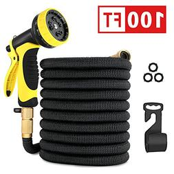Healon 100FT Expandable Garden Water Hose with 10 Pattern Sp