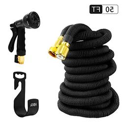 HBlife 50 ft Expandable Garden Water Hose with 8 Spray Patte