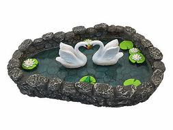 Fairy Garden Miniature Swan Pond - LOVE is in the air! for G