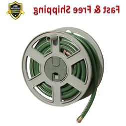 Garden Hose 100 Ft Capacity Wall Mounted Side Tracker Hose R
