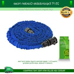 Garden Hose 25 feet Expandable Blue Lightweight Heavy Duty F