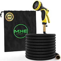 3KM Garden Hose - 100 FT Heavy Duty Expandable - Premium Fle