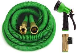 Garden Hose, Expandable Hose Set With All Brass Connectors,
