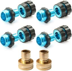 Garden Hose Connectors,4 Male+4 Female+2 Fittings
