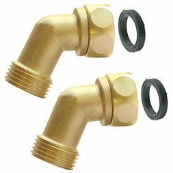 Garden Hose Elbow Connector 45 Degree Extender Solid Brass A