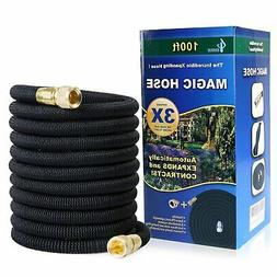 GLOUE Garden Hose Expandable 100ft Magic Water Hose Solid Br