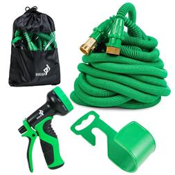 GLOUE Garden Hose Expandable Water Set Double Latex Core, 3/