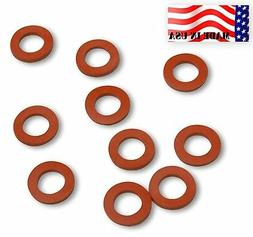 Garden Hose Heavy Duty Silicone Rubber Washers-10-pack MADE