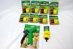 Aqua Plumb Garden Hose Parts Couplings, Mender & Nozzle Lot