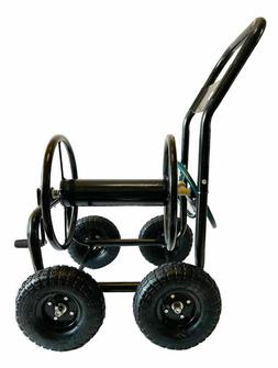 Garden Hose Reel Cart, Portable Hose Organizer with Wheels H