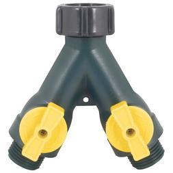 Garden Hose Spliter 2Way Y Valve Female Adapter Connector Wa