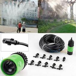 Garden Plants Irrigation Patio Misting Hose 10 Mister Nozzle