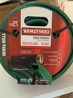 CRAFTSMAN GARDEN WATER HOSE 5/8 in x 75ft Heavy Duty Flexibl