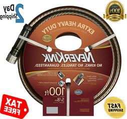 Garden Water Hose 5/8 In x 100 Ft Commercial Heavy Duty Flex