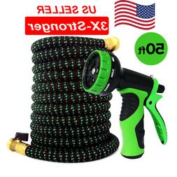 Garden Water Hose Expandable up to 50 ft with 10 way Nozzle