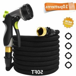 Garden Water Hose Expandable up to 50 ft with Spray Gun