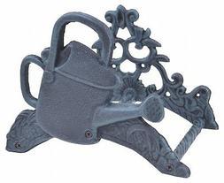 Garden Water Hose Holder Watering Can Verdigris Cast Iron Ha