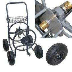 Garden Water Hose Reel Cart 225 FT Outdoor Heavy Duty Yard W