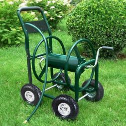 Garden Water Hose Reel Cart 300FT Outdoor Heavy Duty Yard Pl