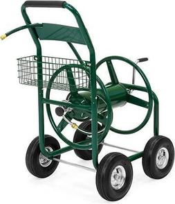 Garden Water Hose Reel Cart Outdoor Heavy Duty Yard Planting