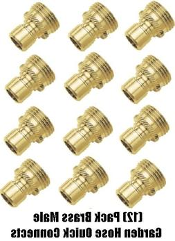 Gilmour Group #09QCMGT Green Thumb Brass Male Connector
