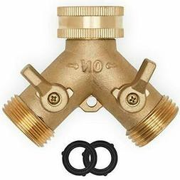 Morvat Heavy Duty Brass Y Garden Hose Connector- 2 Way Tap S