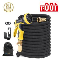 "HOUSE DAY Heavy Duty Expandable Garden Water Hose 3/4"" Solid"