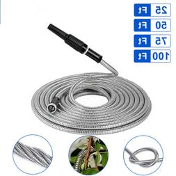 Heavy Duty Stainless Steel Metal Garden Hose Water Pipe 25/5