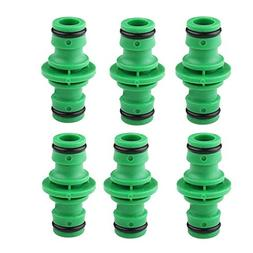 """6 Pack 1/2"""" Hose Connector Female Fitting, Garden Hose to 1/"""