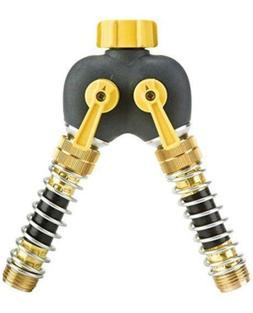 Melnor Kink Free 2-Way Garden Hose Splitter Y Connector Valv