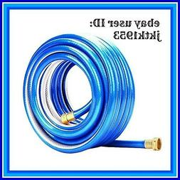 Homes Garden Hose Heavy Duty 50 ft 5/8 inch Blue Water Hose