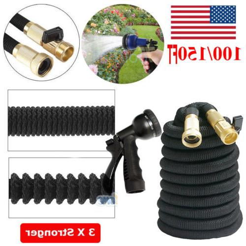 100 150 Feet Garden Hose Expandable Flexible Water Hose +Spr