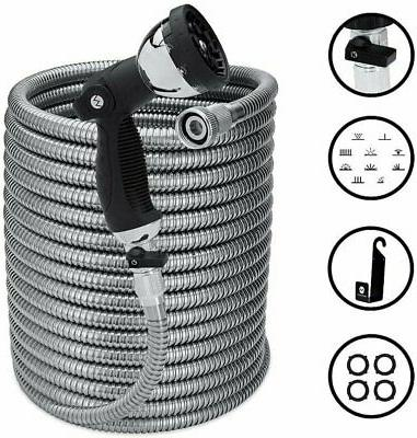 100 foot stainless steel expandable garden hose