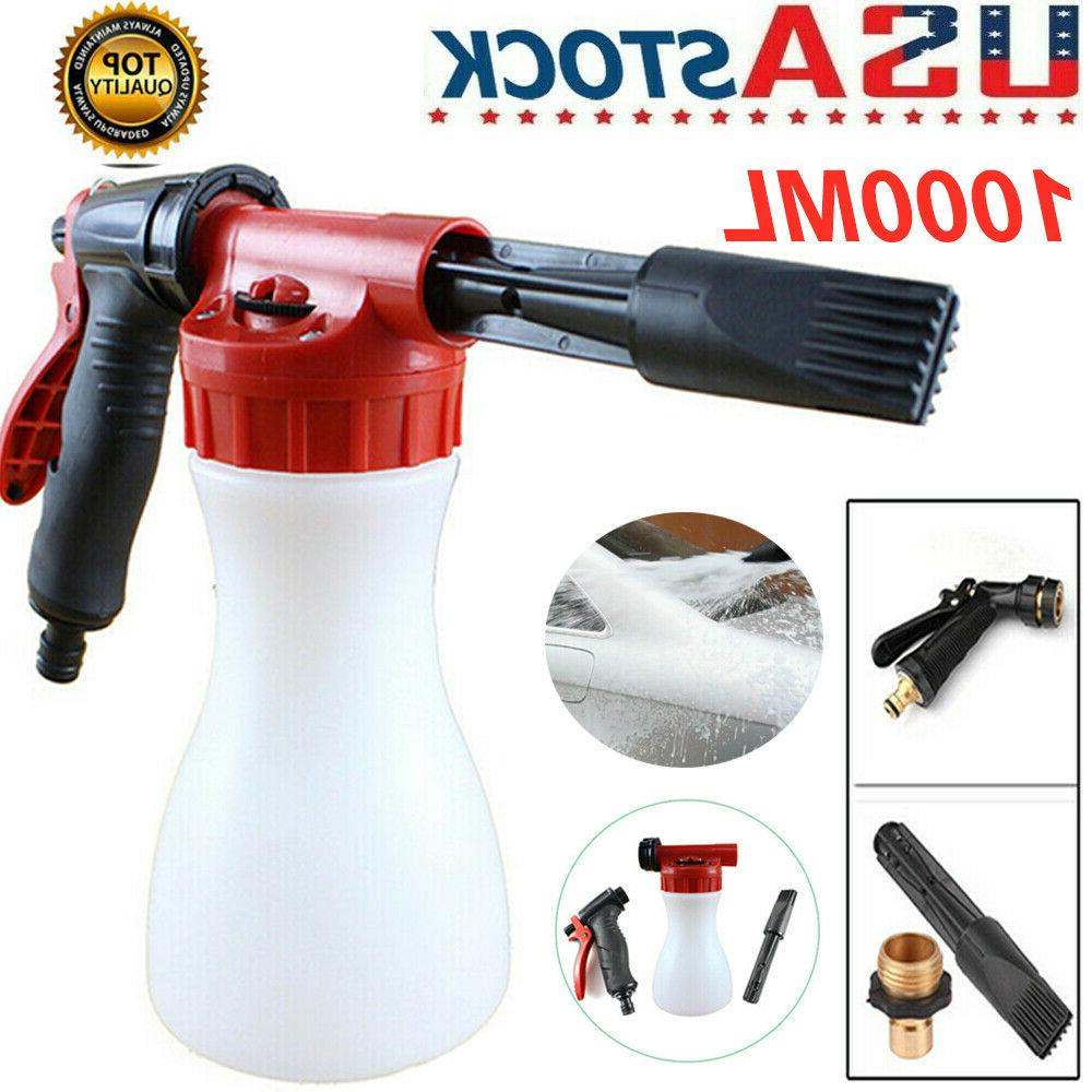 1L Car Snow Foam Gun Bottle Sprayer Garden Hose Window Soap