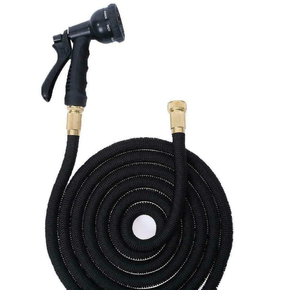 100FT Expandable Water Hose Pipe Hose Watering Home Garden