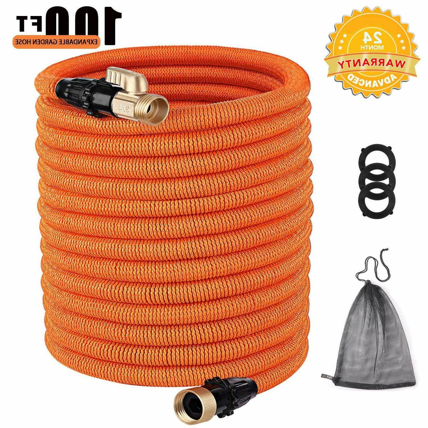 100ft expandable garden hose with double latex