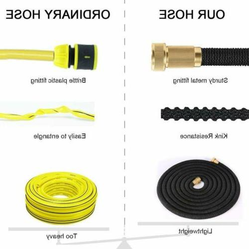 Garden Hose with Pattern Spray Nozzle Latex Water