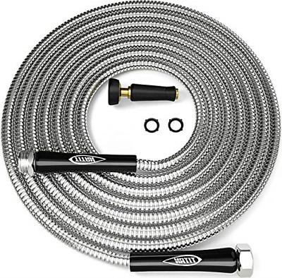 TITAN 100ft Garden Hose - Newest Metal Water Hose with Solid