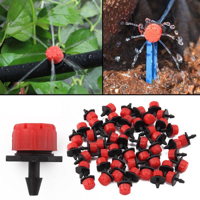100X Garden Irrigation Micro Flow Dripper Water Drip Head Ho