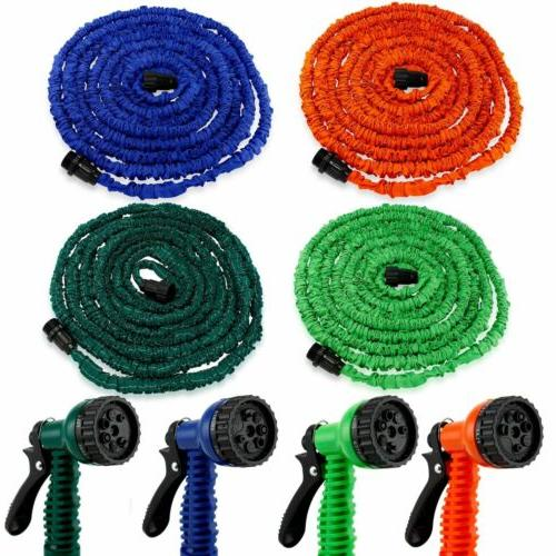 Deluxe Expandable Flexible Garden Water Hose Spray Nozzle  2