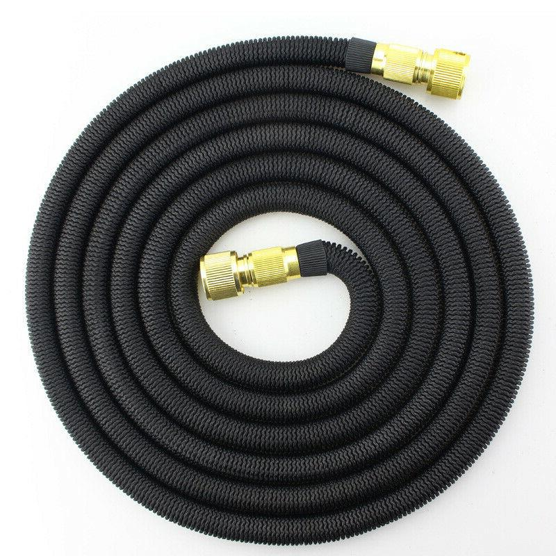 Brass Retractable Watering Black 50 Feet Expandable Flexible