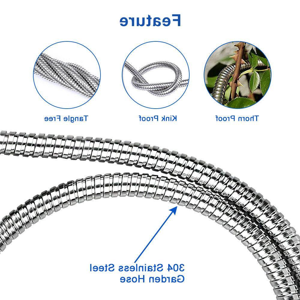 25-100 Ft Stainless Metal Garden Lightweight Flexible