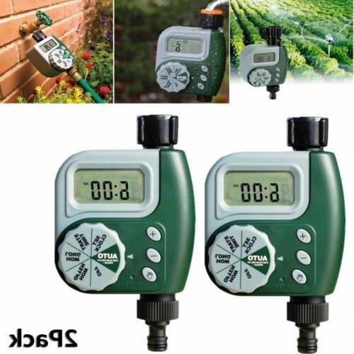2pcs dial garden hose digital water timer